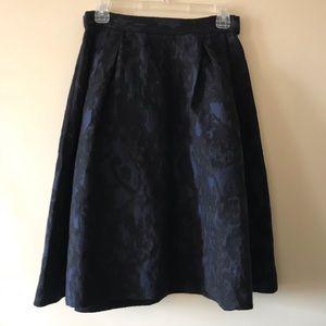 H&M Holiday Navy and Black Midi Skirt